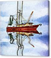 Louisiana Shrimp Boat 4 - Impasto Canvas Print