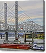 Louisville Bridges Canvas Print
