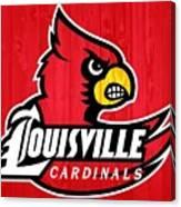 Louisville Cardinals Barn Door Canvas Print