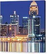 Louisville Kentucky Lights Canvas Print