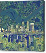 Louisville Kentucky Skyline Abstract 6 Canvas Print