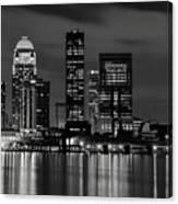 Louisville Skyline At Night 2 Canvas Print