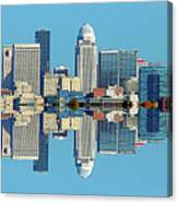 Louisville Skyline Reflection Canvas Print