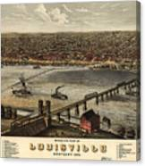 Louisville Vintage Map Canvas Print