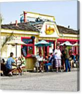 Loulou's On The Commercial Pier In Monterey-california Canvas Print
