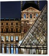 Louvre By Night II Canvas Print