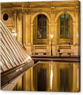 Louvre Courtyard Lamps - Paris Canvas Print