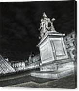 Louvre Museum 7 Art Bw Canvas Print