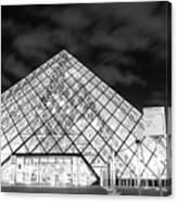 Louvre Museum Bw Canvas Print