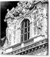 Louvre Palace Window Paris Canvas Print