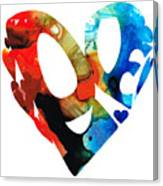 Love 8 - Heart Hearts Romantic Art Canvas Print