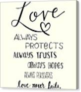 Love Always Canvas Print