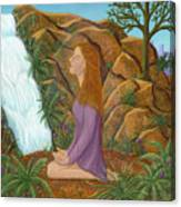 Love And Gratitude Meditation - Illustration #13 In The Infinite Song Canvas Print