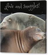 Love And Snuggles Canvas Print