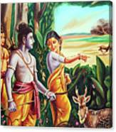Love And Valour- Ramayana- The Divine Saga Canvas Print
