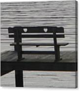 Love Bench Canvas Print