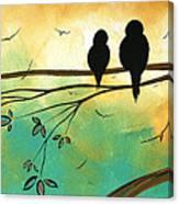 Love Birds By Madart Canvas Print