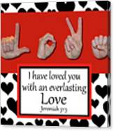 Love - Bw Graphic Canvas Print