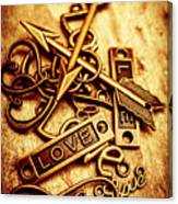 Love Charms In Romantic Signs And Symbols Canvas Print