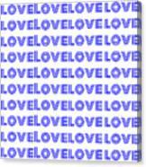Love In Blue Neon Canvas Print