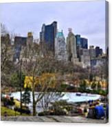 Love In Central Park Too Canvas Print
