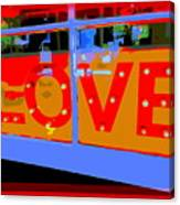 Love  In Lights Canvas Print