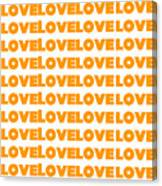 Love In Orange  Canvas Print
