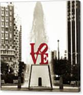 Love In Philadelphia Canvas Print