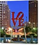 Love In Philadelphia Canvas Print