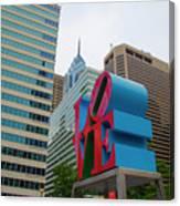 Love In The City - Philadelphia Canvas Print
