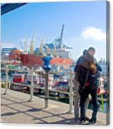 Love In The Port Of Valpaparaiso-chile Canvas Print