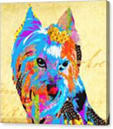 Love Is In The Dog's Eyes  Canvas Print