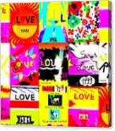 Love Love Love  Canvas Print