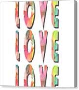 Love Love Love Phone Case Canvas Print