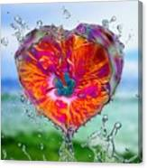 Love Makes A Splash Canvas Print