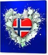 Love Norway 2 Canvas Print