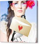 Love Note Delivery From The Heart Canvas Print