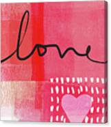 Love Notes- Art By Linda Woods Canvas Print