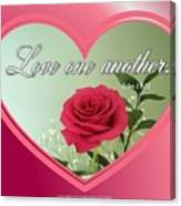 Love One Another Card Canvas Print