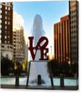 Love Park - Love Conquers All Canvas Print