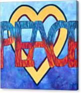 Love Peace Canvas Print
