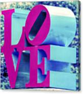 Love Philadelphia Neon Pink Canvas Print