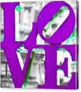 Love Philadelphia Purple Digital Art Canvas Print