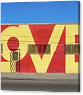Love Store Front Canvas Print