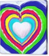 Love Surrounds Love Surrounds Love Canvas Print