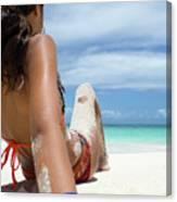 Love The Beach Canvas Print