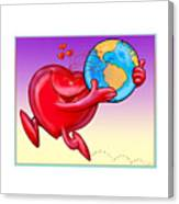 Love The Planet Canvas Print
