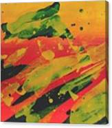 Love Those Diagonals - Yellow 1 Canvas Print