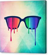 Love Wins Rainbow - Spectrum Pride Hipster Nerd Glasses Canvas Print