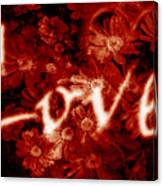Love With Flowers Canvas Print